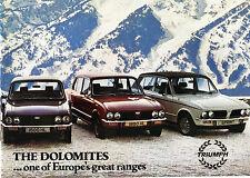 1979 Triumph Dolomite Sales Catalog