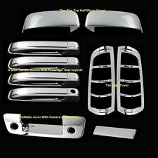 For Dodge Ram 1500 09-16 Chrome Upper Mirror 4 Doors Tailgate Taillights Covers