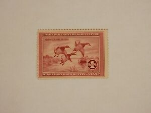 US Federal Duck Stamp - 1935 - RW 2- Flying Canvasback Ducks - MNH - OG