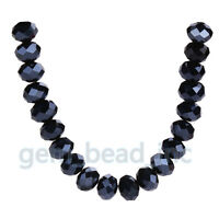 8x6mm Rondelle bead Jewelry Findings Faceted Crystal Glass Loose Spacer Beads