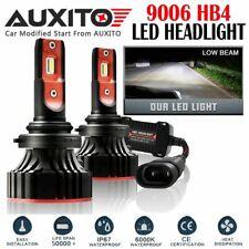 2X FANLESS 9006 HB4 LED Headlight Kit Low Beam White Bulb 6000K 20000LM A8 EOA