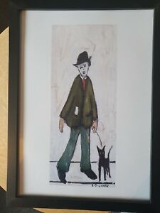 """L.s Lowry """" Man With Dog """" Framed Print"""