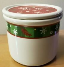 Longaberger Holiday One Pint Crock and Lid Set - New In Box