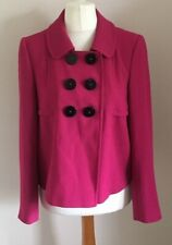 Marks & Spencer Size 14 Ladies Pink Double Breasted Coat Jacket