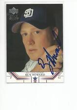 BEN HOWARD Autographed Signed 2002 Upper Deck card San Diego Padres COA