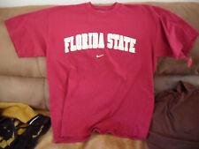 NCAA FLORIDA STATE SEMINOLES TSHIRT NIKE RED SZ.MEDIUM SZ.M/MED FL.ST.NOLES