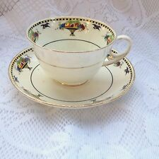 Rare - Atlas Grimmade  3727(?) Bird/Fruit Band Tea Cup & Saucer 934