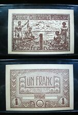 FRENCH WEST AFRICA 1 FRANC 1944 OCCIDENTALE SHARP 26# BANKNOTE CURRENCY MONEY