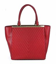 Michael Kors Lana Quilted Large Convertible Tote in Dark RED