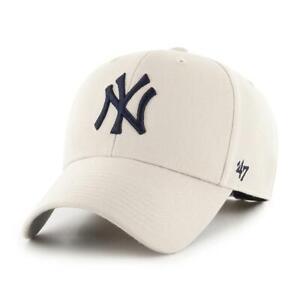 New York Yankees Cap MLB Baseball 47 Brand Cap Kappe Klettverschluß hellbeige