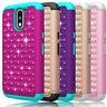 For Motorola Moto G4 Plus/Moto G4 Case Bling Armor Hybrid PC+Rubber Phone Cover