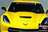 Chevy Corvette Graphic Decals C3 C4 C5 C6 C7 ZO6 ZR1 Stingray WINDSHIELD BANNER