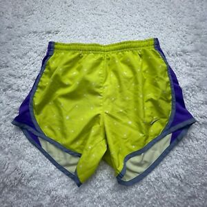 Nike Dri-Fit  Junior Shorts Large Neon Green Tempo Youth Cheer Running D5