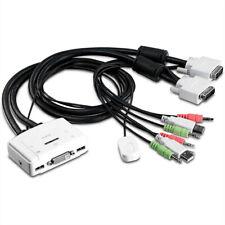 Trendnet TK-214I KVM-Schalter 2-port DVI mit Audio
