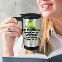 Grinch Cup Of Fuckoffee Funny Grinch Stainless Steel Coffee Travel Mug Fun Gift