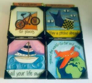 Wall Art Story Squares DEMDACO Storyframes -Sign Decor Set of 4 Storysquares NEW
