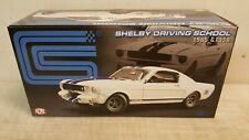 ACME 1:18  SHELBY 1965 GT350 DRIVING SCHOOL MUSTANG WHITE W/BLUE STRIPES