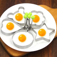 5Pcs Stainless Steel Fried Egg Shaper Mould Pancake Mold Cooking Kitchen Tools