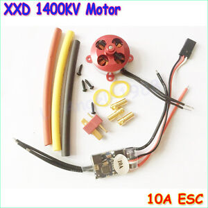 A2204 7.5A 1400KV 50W SP Micro Brushless Motor W/ Mount + 10A ESC For RC