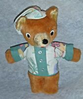 VTG Googly Eyes Teddy Bear Pajamas Bedtime Fox Safari 13""