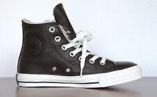 Converse Damen-High-Top Sneaker aus Echtleder mit Schnürsenkeln