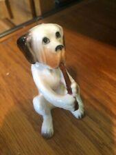 English Mastiff ? Dog Blowing Horn Figurine Ornament