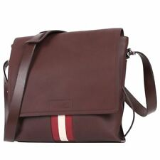BALLY MEN'S CHESTNUT LEATHER SHOULDER CROSSBODY BAG BRANT 11 ($1,195) NEW W/TAG