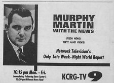 1963 TV NEWS AD~MURPHY MARTIN~KCRG JEFFERSON CITY,MISSOURI~CHANNEL 9