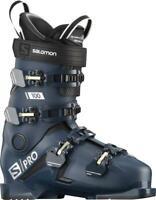 Salomon S/PRO 100 Ski Boots Petrol Blue/Black/Pale Kaki 2020