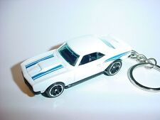 NEW 3D WHITE CHEVROLET 69 CAMARO COPO CUSTOM KEYCHAIN keyring KEY CHAIN ss BLING