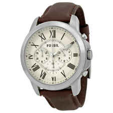 Fossil Grant Chronograph Cream Dial Men's Watch FS4735IE