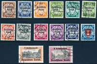 THIRD REICH DANZIG GDANSK Mi. #716-729 used stamp set! CV $240.00