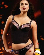 34DD-FREYA NADIA U/W BUSTIER BRA/SMALL-10 BRIEF SET~BLACK