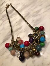 Semi Precious Stone Crystal Necklace Signed Aris GeldisParis