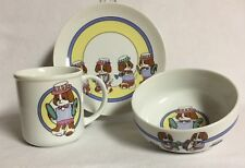 SET OF 3 CHILD'S DISHES PARADE by SHIBATA PUPPY DESIGN  #2114