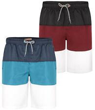 Mens KAM BIG Plain Panel Swim Shorts Beach Summer Mesh Lined 2-8XL