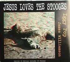 "IGGY POP - CD SINGLE ""JESUS LOVES THE STOOGES"" INCLUDES 3D GLASSES"