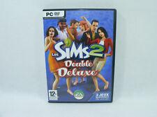 Les SIMS 2 DOUBLE DELUXE Nuit de Folie Jour de fête EA games 2 DVD manuel Jeu PC