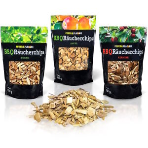BBQ Räucherchips Mix Apfel, Buche, Kirsche - 3x 500g