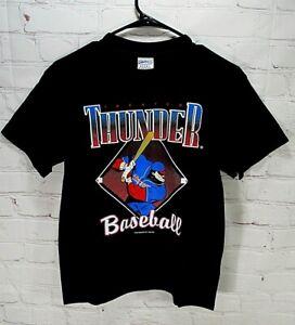 NWOT Trenton Thunder 2004 Youth large shirt-black-New York Yankees Minor League