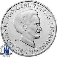 Deutschland 10 Euro 2009 Marion Gräfin Dönhoff bankfrische Münze in Münzkapsel