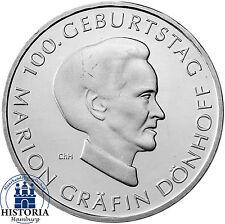 Deutschland 10 Euro Silber 2009 bfr  Marion Gräfin Dönhoff  in Münzkapsel