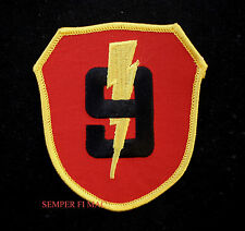 9TH MARINES REGIMENT HAT PATCH MCB US MARINE 3RD MAR DIV STRIKING NINTH WWII