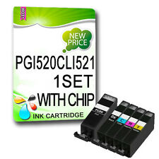 5 Chipped Ink For MP550 IP3600 IP4600 IP4700 MP540 MP560 MP620 MP630 PGI520BK