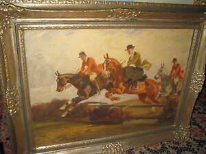 JANK Angelo, *1869 Große Parforce Jagd TOPP