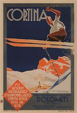 Cortina The Paradise of Ice, Snow and Sun, 1930 Poster CANVAS PRINT 24x32 in.
