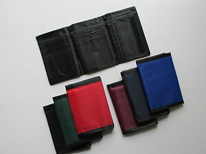 12 Nylon WALLETS 6 colors TRIFOLD Style mens boys wallet