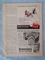 1949 Magazine Advertisement Page Rockwood Chocolate Bits Dromedary Cake Mix Ad