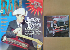JUNIOR BROWN  -SEMI CRAZY CD +  BAM MAGAZINE - JULY 12, 1996 - COVER STORY