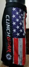 Clinch Gear Tactical Shorts Mma Bjj Jiu Jitsu American Flag Black Sz 40
